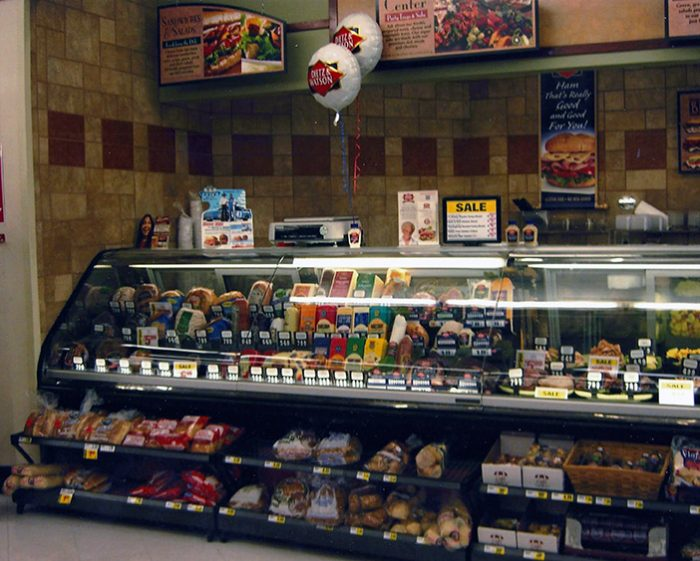 Grocery-Deli-display-with-D&W-slicing-cheeses